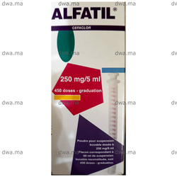 medicament ALFATIL125 MG / 5 MLFlacon de 60 ml maroc