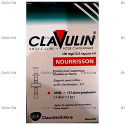 medicament CLAVULIN100 MG/12,5 MG/ML NOURISSONFlacon de 30 ml maroc